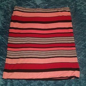 NWOT LOFT Sz XL Striped Skirt